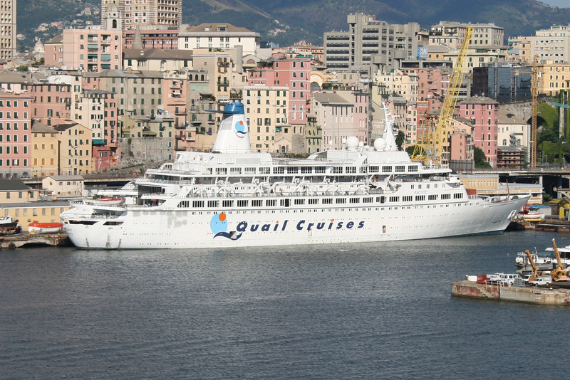 """2010 - M/S PACIFIC laid up in Genova. This is the ship of the famous """"LOVE BOAT"""" Tv series."""