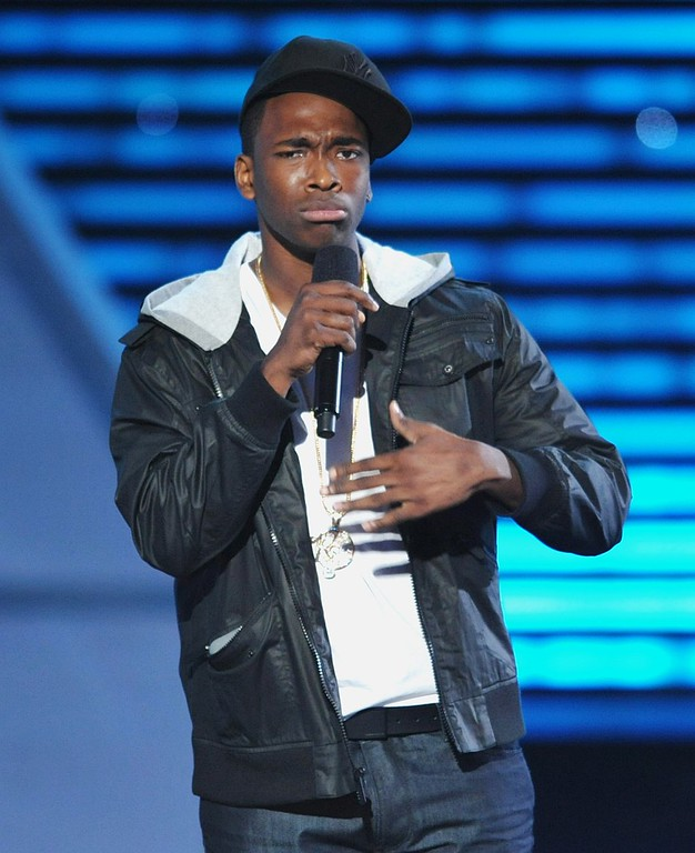 . Jay Pharoah speaks on stage at the ESPY Awards on Wednesday, July 17, 2013, at the Nokia Theater in Los Angeles. (Photo by John Shearer/Invision/AP)