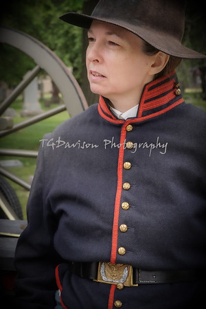 Memorial Day Service, Mulligan's Battery, Rosehill Cemetery, Chicago, IL, 5/31/21
