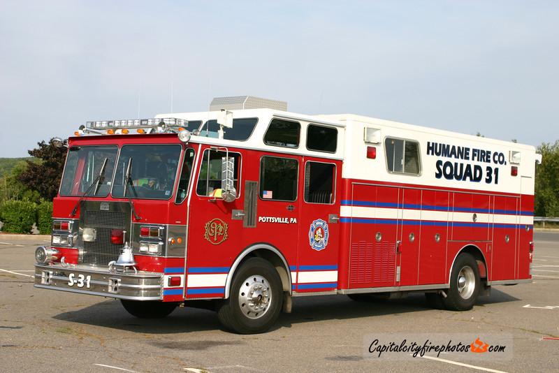 Pottsville (Humane Fire Co. 1) Squad 31: 1986 Spartan/Custom Fire (X-Shakopee, MN)