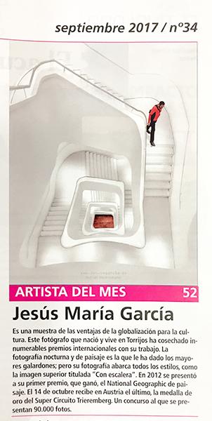 Jesús M. García Artista del Mes