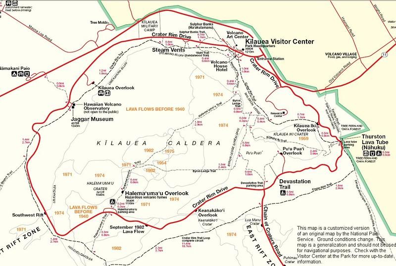 Hawaii Volcanoes National Park - Kilauea Area