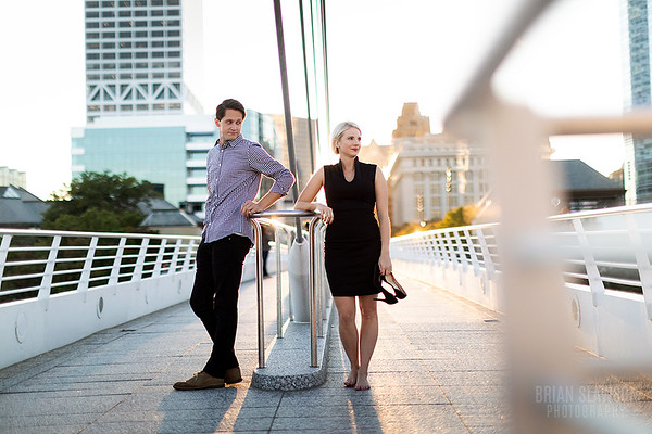 Milwaukee lakefront engagement shoot
