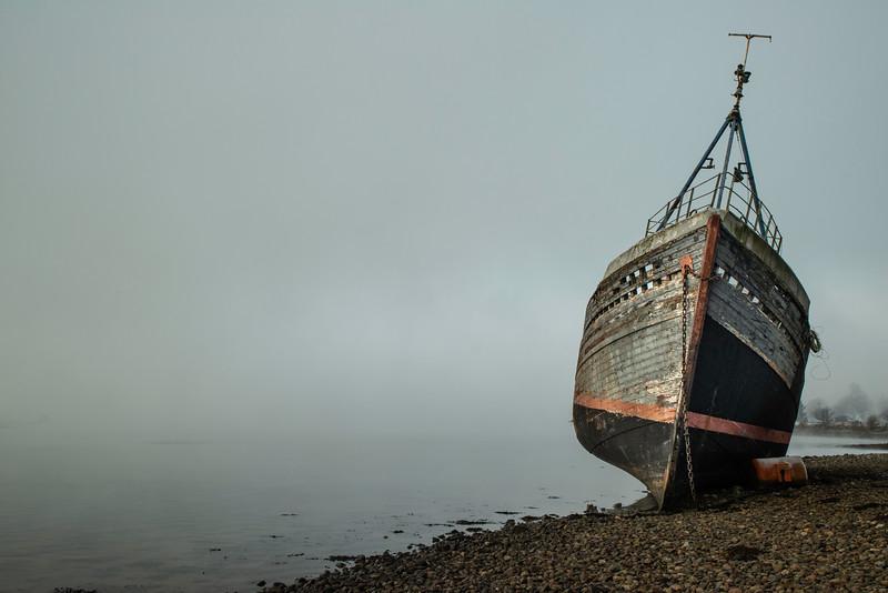 Corpach ship wreck, highlands, Scotland.