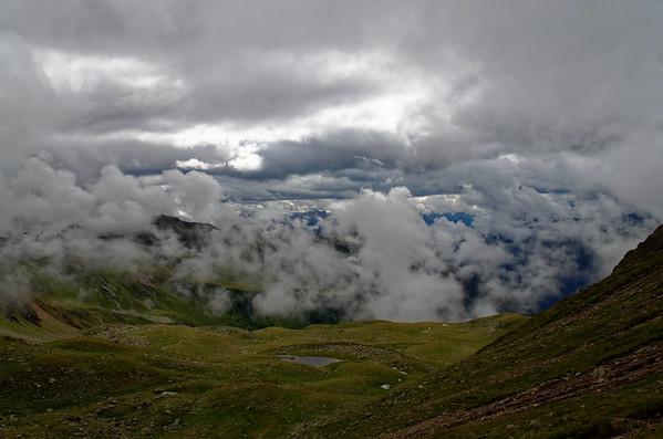 Unterstaller Alm - Schwarzsee - Heimwaldjöchl 2644m - Kalksteiner Jöchl 2326m