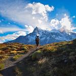 Trekking in Parque Nacional Torres del Paine, Chile
