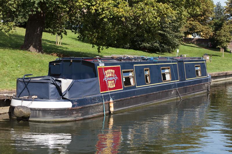 Boat on the River Cam. Cambridgeshire