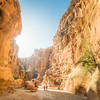 Sunlight in the Siq, Petra, Jordan