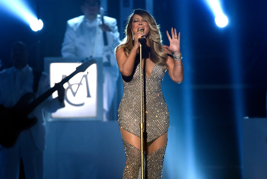 . Mariah Carey performs at the Billboard Music Awards at the MGM Grand Garden Arena on Sunday, May 17, 2015, in Las Vegas. (Photo by Chris Pizzello/Invision/AP)