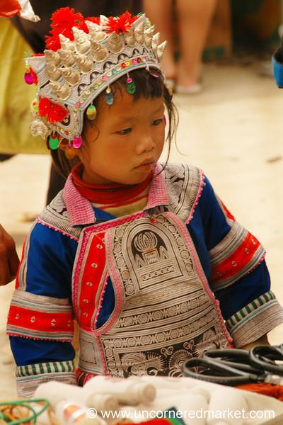 Miao Girl in Traditional Dress - Guizhou Province, China