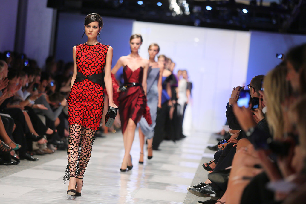 . A model walks the runway during the Sarli Couture fashion show as part of AltaRoma AltaModa Fashion Week Autumn/Winter 2013 on July 5, 2013 in Rome, Italy.  (Photo by Ernesto Ruscio/Getty Images)