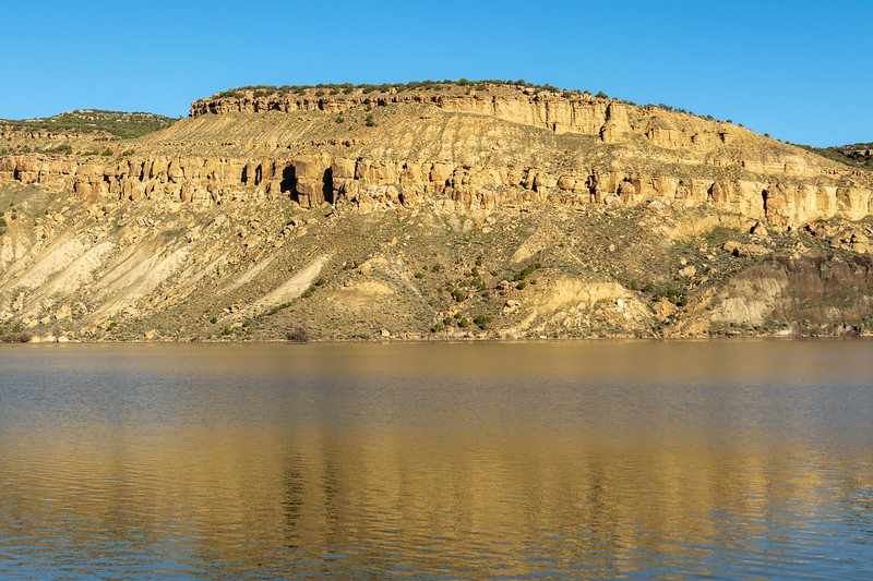 The White River and Kenney Reservoir in Northwest Colorado. Photo by Mitch Tobin/The Water Desk.