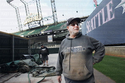 Seattle Mariners team and staff prepare for big sports business that comes their 2015 Major League Baseball home opener game