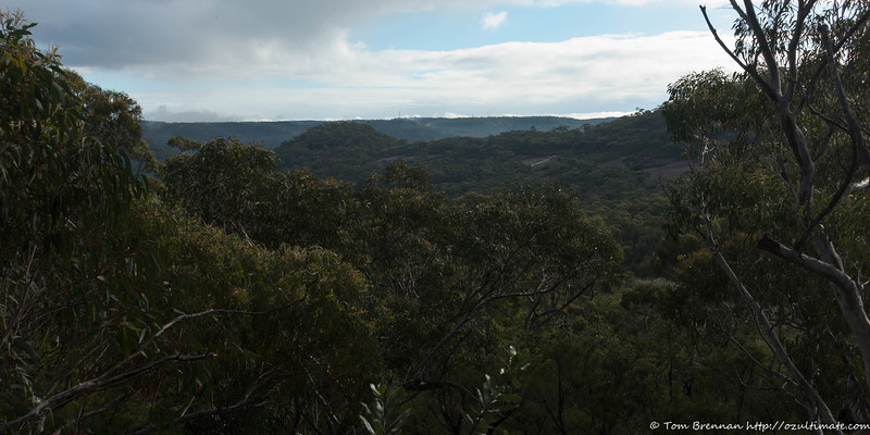View across to the end of the ridge, beyond Mt Murray Anderson