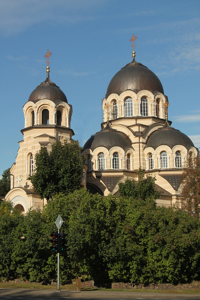 Church of the Apparition of the Holy Mother of God  This Russian Orthodox church was built in 1903 and is topped with several beautiful Neo-Byzantine cupolas. -Vilnius, Lithuania