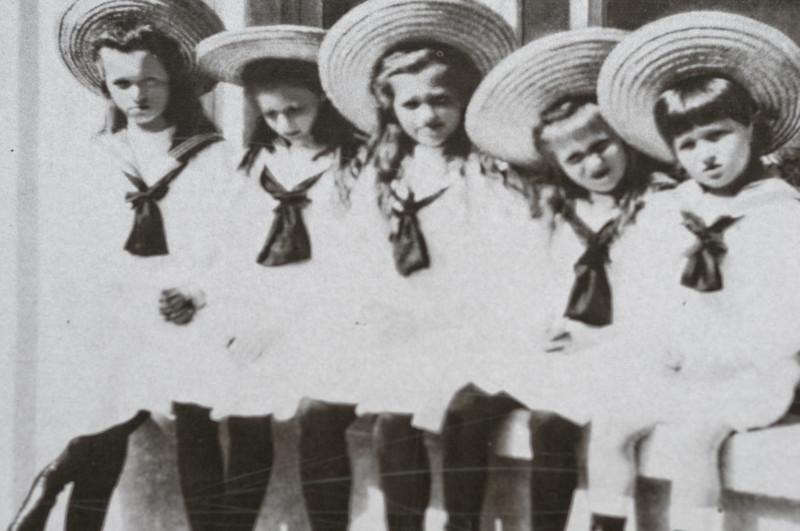 Die Kinder Olga, Tatjana, Maria, Anastasia und Alexej.
