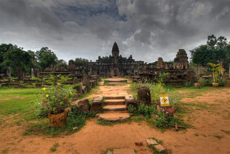 Entrance stairway of Angkor Wat