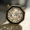 1.36ct Old European Cut Diamond, in JbyG Hex and Enamel Pendant Setting 8