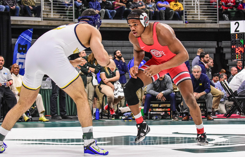 184: Myles Martin (Ohio State) dec. No. 3 Dom Abounader (Michigan), 7-3