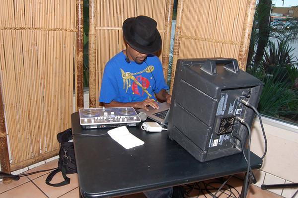 Hannibal Tabu--DJing at Simply Wholesome!