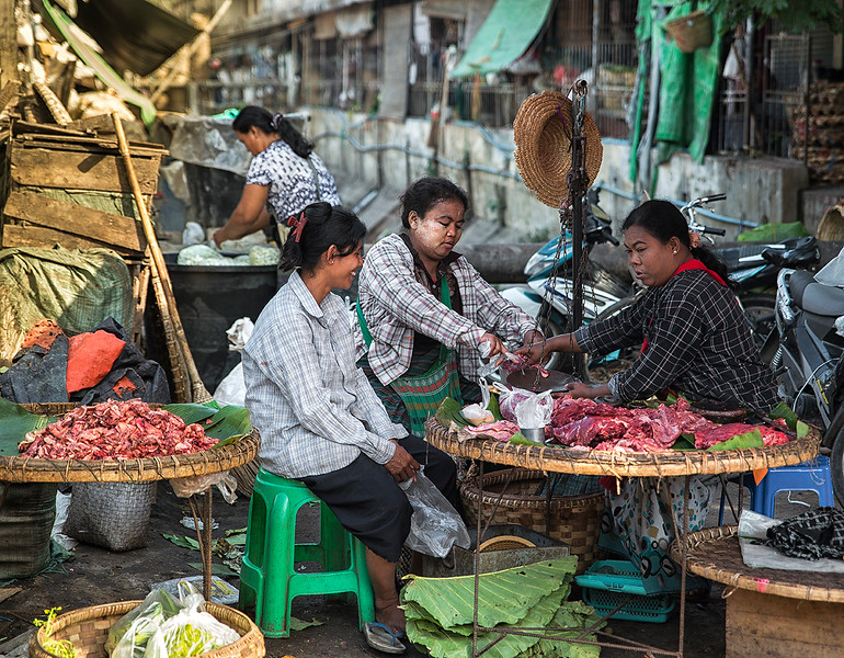Food Market.  Mandalay, Myanmar,2017.