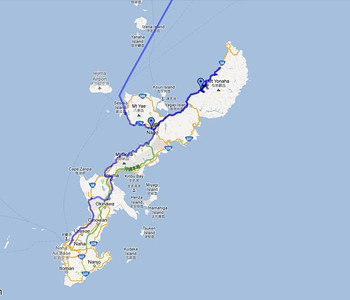 Map of my bicycle tour in Japan spring 2010