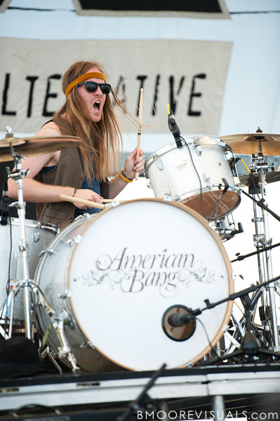 Neil Mason of Amercian Bang performs at the 97x Backyard BBQ at Vinoy Park in St. Petersburg, Florida on May 29, 2010.