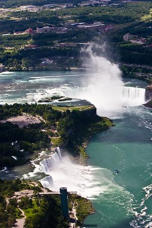 Helicopter over Niagara Falls