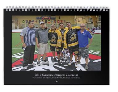 2017 Syracuse Stingers Calendar (photos from LASNAI2016)