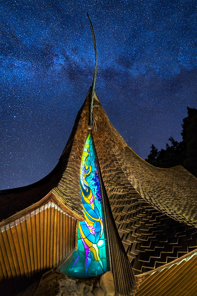 Sea Ranch Chapel and the Heavens, Study 4