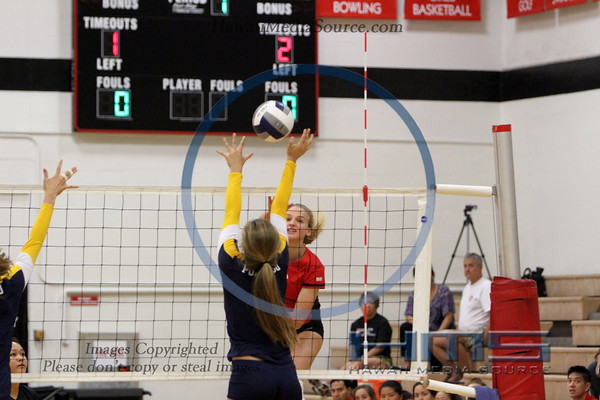 Iolani Girls Volleyball - Pun 10-1-13