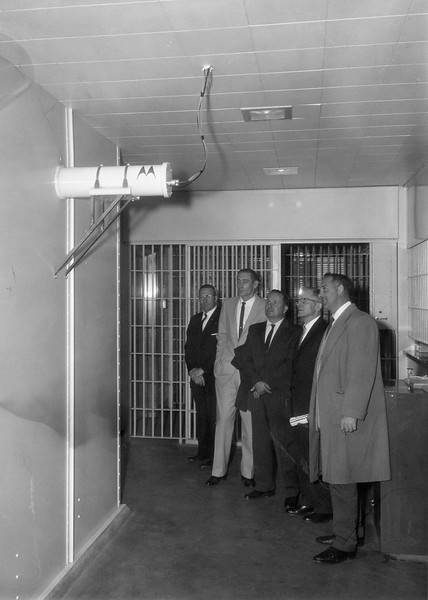 December 3 1962 FOP tour of new Police HQ  Camera to Tank Room