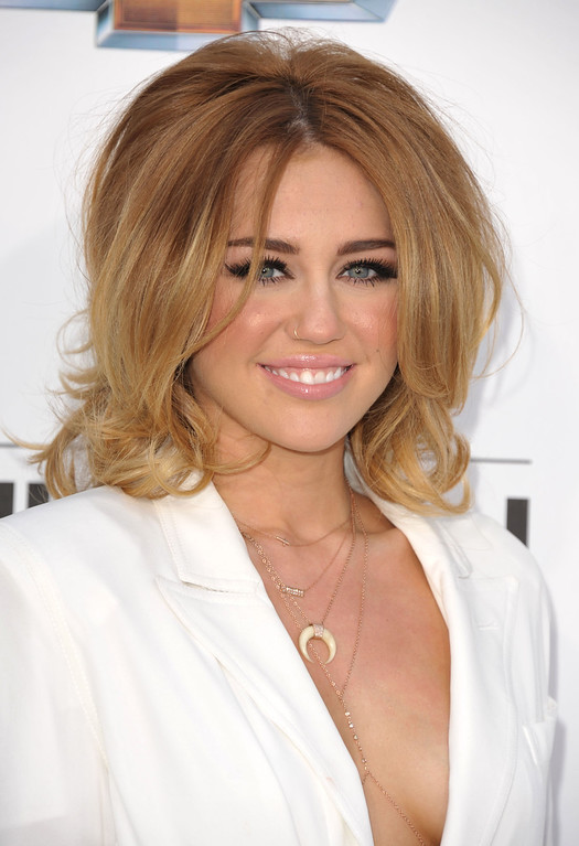 . Miley Cyrus arrives at the 2012 Billboard Awards at the MGM Grand on Sunday, May 20, 2012 in Las Vegas, NV.  (Photo by John Shearer/AP Images)