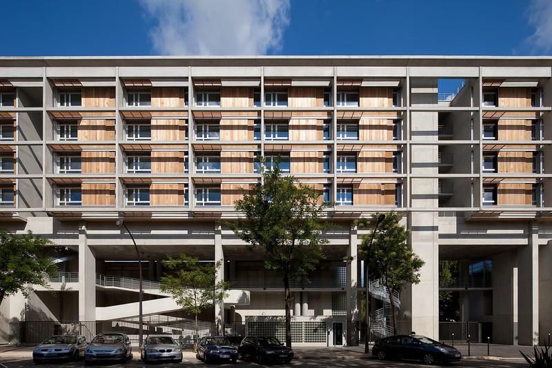 Résidences pour étudiants et jeunes salariés, Paris XIII, 2010, photo H Abadie ©Agence Michel Kagan Architecture & Associés