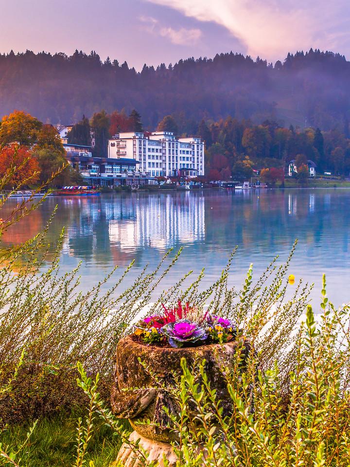 斯洛文尼亚布莱德湖(Lake Bled),沿岸巡游