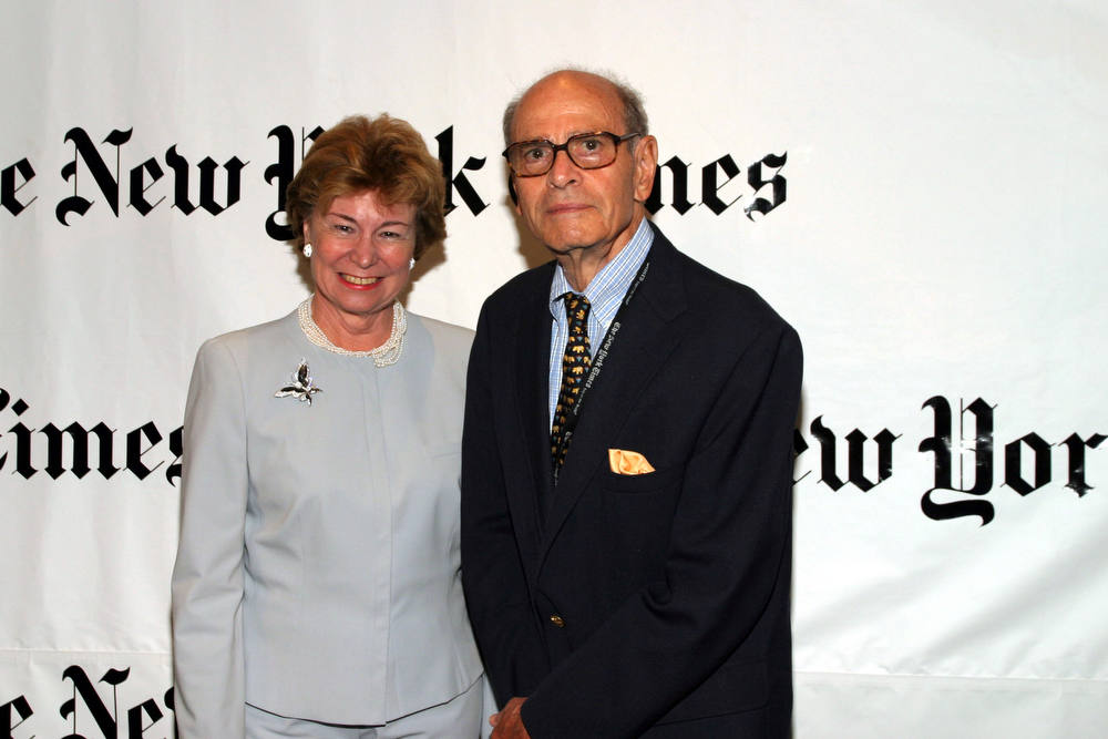 . Former New York Times publisher Arthur Ochs Sulzberger. (seen with Allison Cowles) (Photo by Bowers/Getty Images)