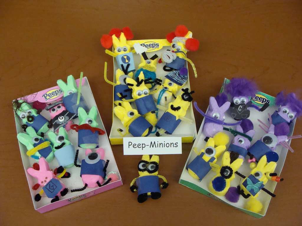 """. \""""Peeps-Minions,\"""" by fifth-graders from Elizabeth Erickson\'s class at Hillside Elementary in New Richmond, Wis."""