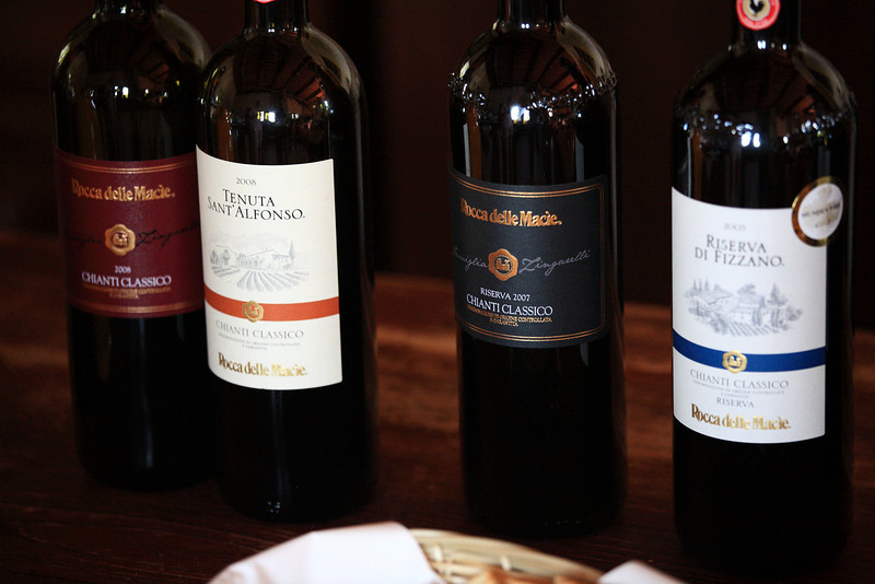 We tasted great wine at Rocca delle Macie. It's actually available at Olive Garden.