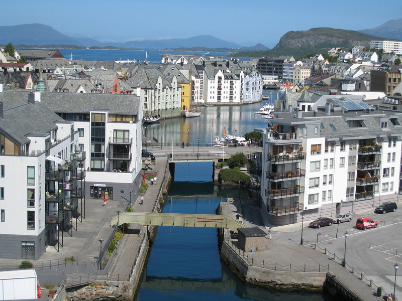 Alesund - the first time the ship had stopped at this port