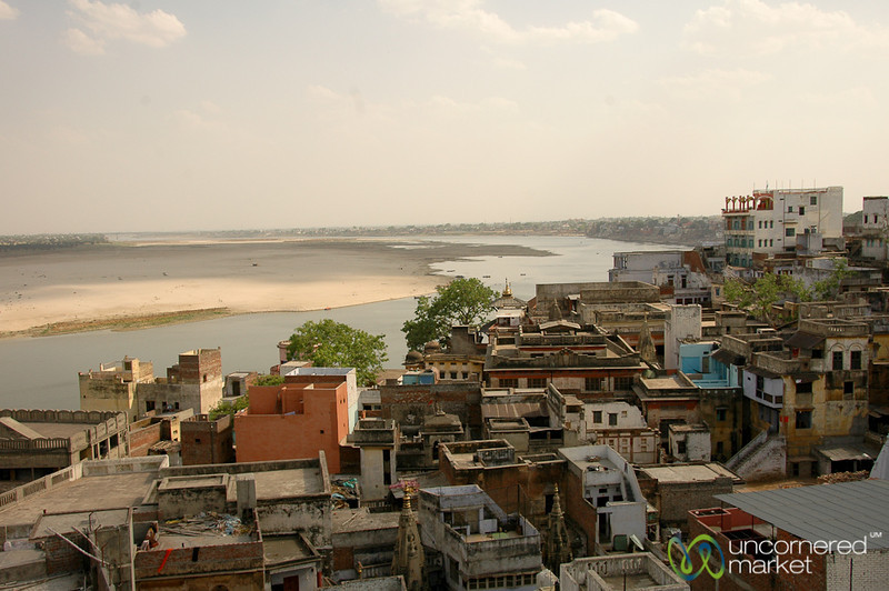 Looking Out Over Varanasi and the Ganges River - India