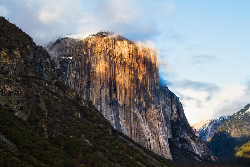 El Capitan at sunset
