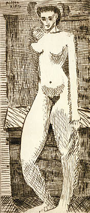 "Milton Avery, ""Young Girl Nude"" (1935)"