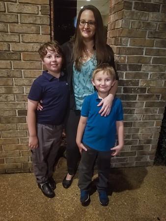 Lauren, Holden, and Parker Brown