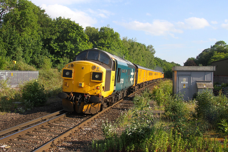 37025 Micheldever 08/06/20 on the rear of 1Q51 Derby RTC to Eastleigh led by 37116