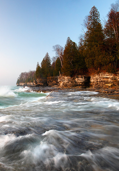 Washing Up - Cave Point County Park (Door County - Wisconsin)