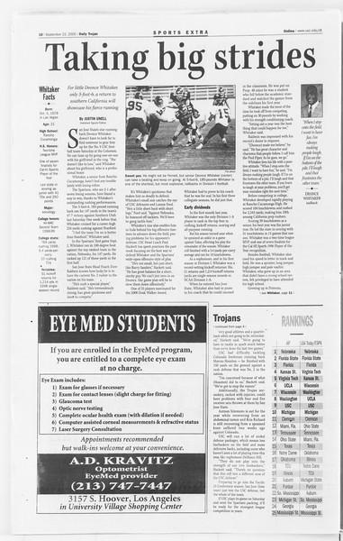 Daily Trojan, Vol. 141, No. 18, September 22, 2000