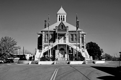 Texas Courthouses Monochrome Images