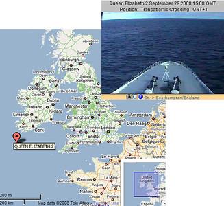 Various Cunard WEBCAM shots