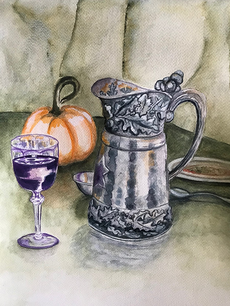 Pewter Pitcher