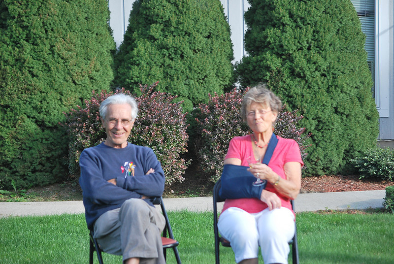 Would have been a great picture - had Mom and Dad been in better focus. It looks ike the shrubs were locked into focus.